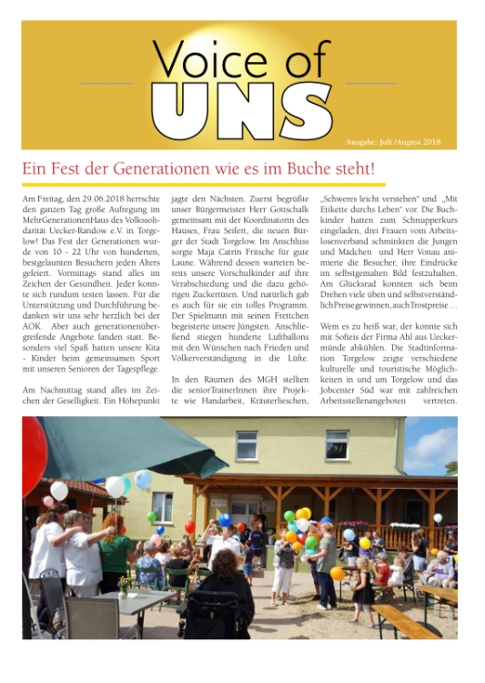 Voice of UNS Juli-August 2018